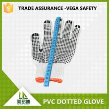 black PVC dotted gloves cheap glove