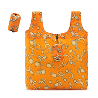 Cheap recycle easy carry polyester 210D foldable bag