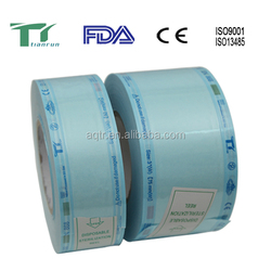 syringes with plastic needle sterilization packaging roll