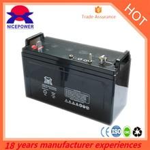 2015 Nice power Maintenance free 120Ah 12v lead acid battery deep cycle 24v