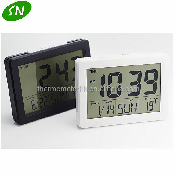 Calendar Clock Wallpaper : Desktop digital clock with thermometer calendar buy