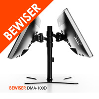 Space Saver Dual Desktop Gas Spring Lcd Folding Bracket / Stand With Lcd Monitor Brackets