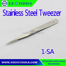 1-SA Conductive High Precision Stainless Steel Tweezer ,High Quality Hand Tweezer