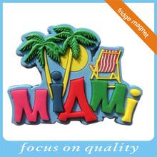 MIAMI pvc tourist novelty travel souvenir fridge magnet products
