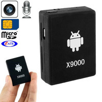 X9000 Mini GSM Bugs / Video Recorder with Mic, Support Video Voice Record Function, SIM Card Network: 850 / 900 / 1800 / 900MHZ
