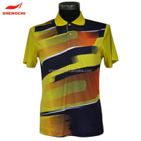 Custom fashion full sublimation printing new design cheap prices polo t shirt
