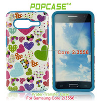 vivid two-tone color phone protection cover for Samsung galaxy core 2 case