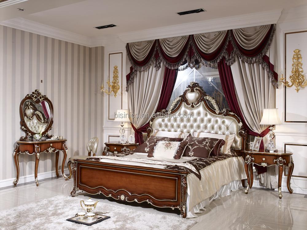 Bois massif chambre ensemble luxe bois massif meubles de for Set de chambre maison corbeil