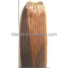 Wholesale Virgin Remy Light Yaki Hair Weft, Clip-In Yaki Human Hair Extensions, Hair Weft Yaki