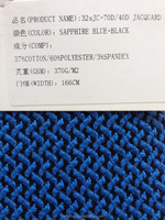 Polyester Cotton Stretched Jacquard (Interlock) Elastic Knit Fabric