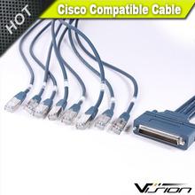 Vision Cisco compatible 6-Feet HD68M/8 LEGS RJ-45 Cable
