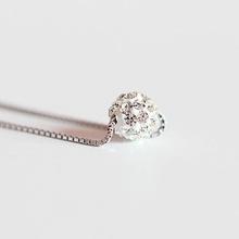 925 Silver Man Diamond (full diamond ball necklace set) Passepartout necklace silver jewelry wholesale mixed batch