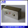 High quality Big magnet, NdFeB block magnet with countercunk hole(ROHS)
