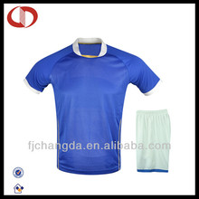 Wholesale replica 100% polyester soccer jerseys made in china
