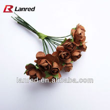 Wholesale Paper small rose flowers for Scrapbooking