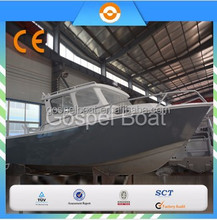 CE certification 8M Large Cabin Aluminum Fishing Vessel outboard motor