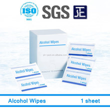 Single sheet portable disposable OEM/ODM Alcohol Wipes and Swabs manufactory