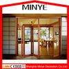 Shanghai elegant design luxury accordion door design with Germany hardware aluminum bi-fold door