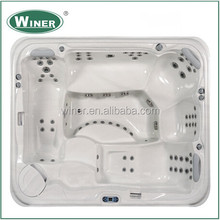 China suppliers export hot and cold family outdoor hot spa tub