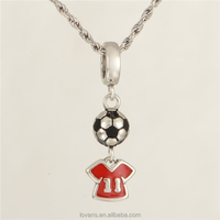 Football Charm Silver Pendant Jewelry World Cup Jewelry S275