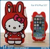 Hello Kitty Case 3D Case Silicone Case for iPhone 6 Plus 5.5 Inches