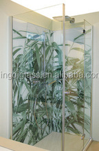 tempered stained glass for bathroom