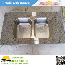 Tropic Brown Kitchen Granite Countertops With Stainless Sink