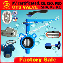 BV-SY-116 Cast Iron worm gear wafer butterfly valves for ship