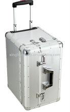 Plain aluminum luggage hard case or soft,hard case luggage sets with Jacquard and Bag inner,pc film trolley luggage case