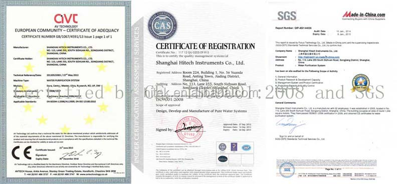 Supply laboratory equipments certified by CE, ISO 9001:2008 and SGS
