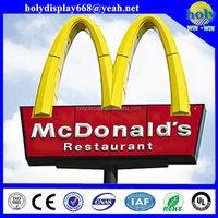 customized design advertising standing outdoor led pylon sign,brand logo 3D led pylon sign