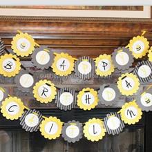 Letter Banner Happy Birthday Decor Items