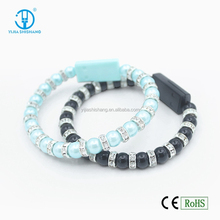 Promotional gift Pearl wearable usb charge data cable, Mini charge line for Android phone