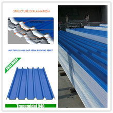 weather resistance corrugated plastic upvc roofing sheets