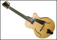 15inch 7 strings f hole fully handmade solid wood electric jazz guitar