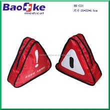 triangular first aid kit /roadside nylon pouch /auto bag