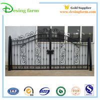 2015 powder coating Iron gate designs simple for sale