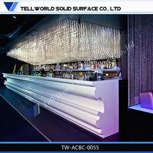 2015 new design nightclub bar counter, bar counter for nightclub, night led light bar