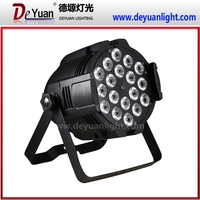 18pcs 10w rgbwa 5in1 die-caseting par led par can 64 light