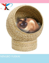 Willow Cat-a-Sphere Luxury Banana Leaf Cat Bed / Sleeping Cave