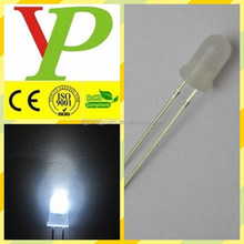 Milk white diffused 5mm white led high quality