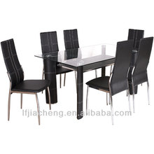 modern vidro temperado sala de jantar conjunto