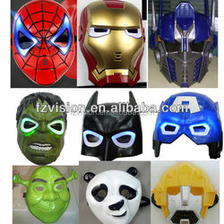 wholesale fast delivery Halloween super hero LED flash kids Masquerade mask