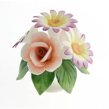 Caliente la venta de cerámica hechos a mano fina flor de la flor para la decoración del hogar