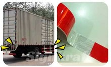 Popular product high visibility 3M brand self adhesive red and white reflective tape for large vehicle