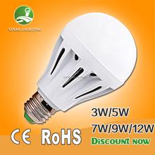 5w 7w 9w 12w E27 b22 low price and MOQ 3w to 12w led bulb e27