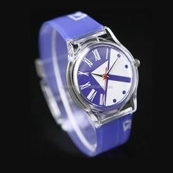cheap full printed band ladies plastic watch full printed PVC band promotion watch customized PVC printed wrist watch