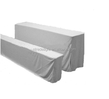 grey polyester beer table cover & beer bench cover set for cheap sale