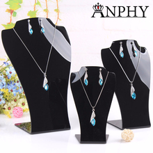 A177 ANPHY Acrylic Jewelry Mannequin Necklace Stand Earring Necklace Display