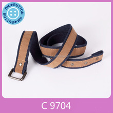 Bottom cost custom hot selling braided mens thin fashion belt for jeans